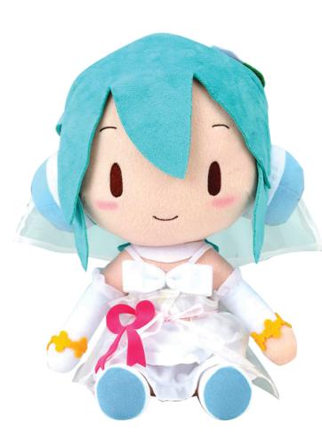 Bride Hatsune Miku White Dress Plushie