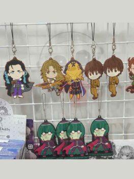Fate/Grand Order & Re:Zero rubber strap keychain