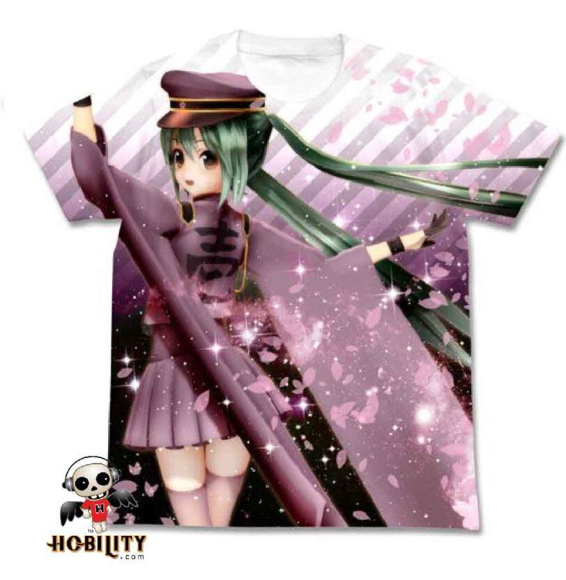 Senbonzakura Api Miku Senbonzakura Full Graphic T-shirt