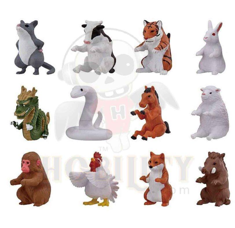 Gashapon Animal Narabundesu (12 zodiac animals)