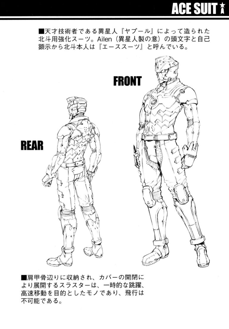 Ace Suit front and rear